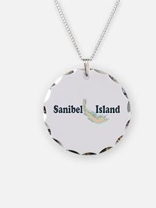 Sanibel Island - Map Design. Necklace