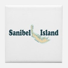 Sanibel Island - Map Design. Tile Coaster