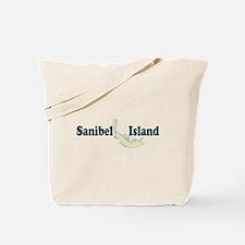 Sanibel Island - Map Design. Tote Bag