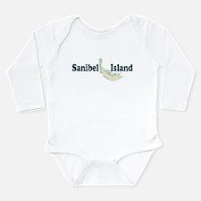 Sanibel Island - Map Design. Long Sleeve Infant Bo