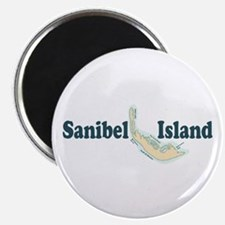 Sanibel Island - Map Design. Magnet