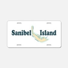 Sanibel Island - Map Design. Aluminum License Plat