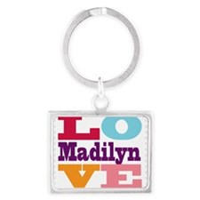 I Love Madilyn Landscape Keychain