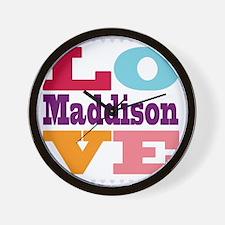 I Love Maddison Wall Clock