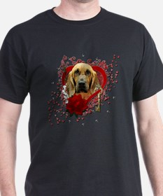 Valentines - Key to My Heart - Bloodhound T-Shirt