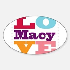 I Love Macy Sticker (Oval)