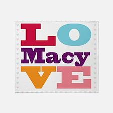 I Love Macy Throw Blanket