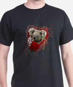 Valentines - Key to My Heart - Koala T-Shirt