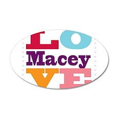 I Love Macey Wall Decal