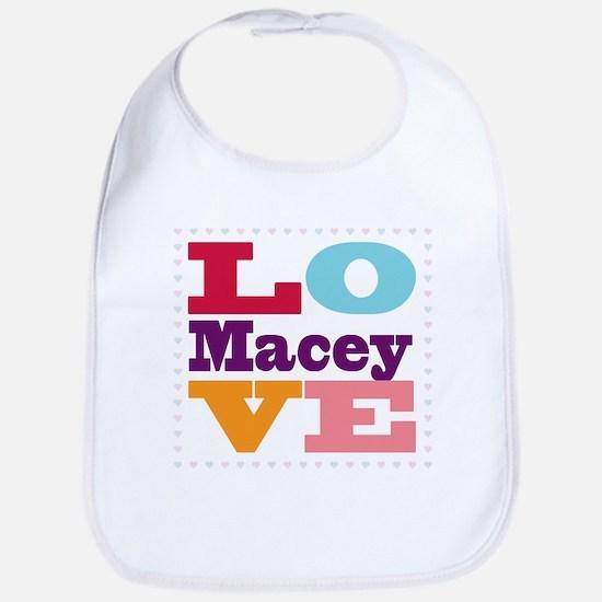 I Love Macey Bib