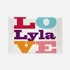 I Love Lyla Rectangle Magnet