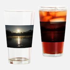 Mississippi River Sunrise Drinking Glass