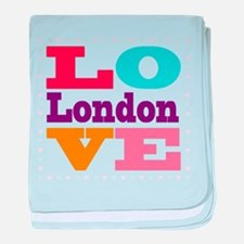 I Love London baby blanket
