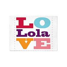 I Love Lola 5'x7'Area Rug