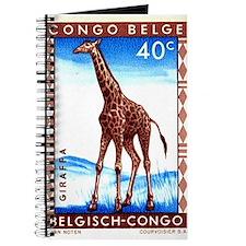 Vintage 1959 Belgian Congo Giraffe Postage Stamp J