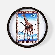 Vintage 1959 Belgian Congo Giraffe Postage Stamp W