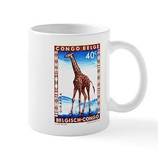 Vintage 1959 Belgian Congo Giraffe Postage Stamp M