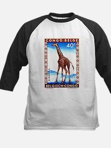 Vintage 1959 Belgian Congo Giraffe Postage Stamp K
