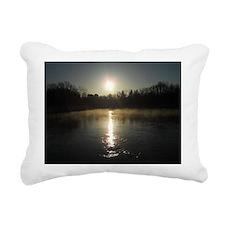 Mississippi River Sunrise Rectangular Canvas Pillo