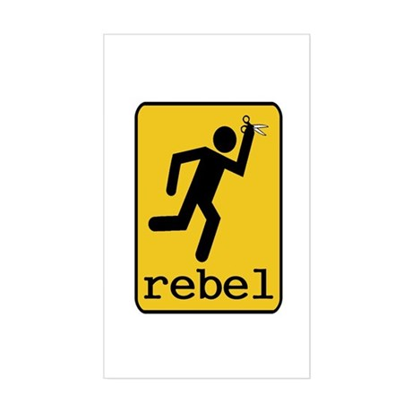 Rebel Sticker (Rectangle)