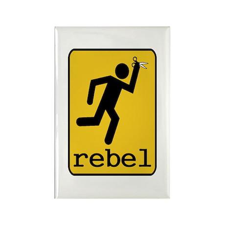 Rebel Rectangle Magnet
