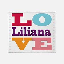 I Love Liliana Throw Blanket