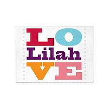 I Love Lilah 5'x7'Area Rug