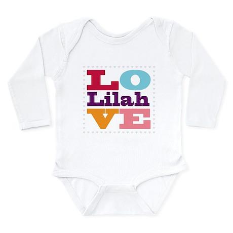 I Love Lilah Long Sleeve Infant Bodysuit