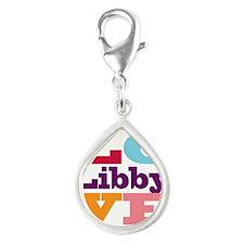 I Love Libby Silver Teardrop Charm