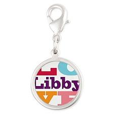 I Love Libby Silver Round Charm