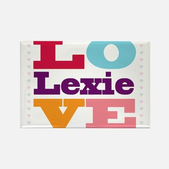 I Love Lexie Rectangle Magnet
