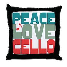 Peace Love Cello Throw Pillow