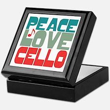 Peace Love Cello Keepsake Box