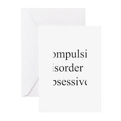 Compulsive Disorder Obsessive Greeting Cards (Pk o