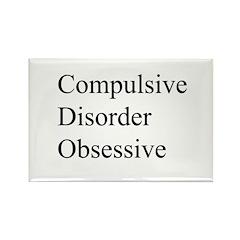Compulsive Disorder Obsessive Rectangle Magnet (10