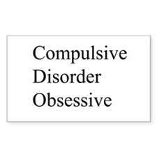 Compulsive Disorder Obsessive Decal