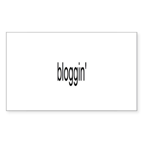 bloggin' Sticker (Rectangle)