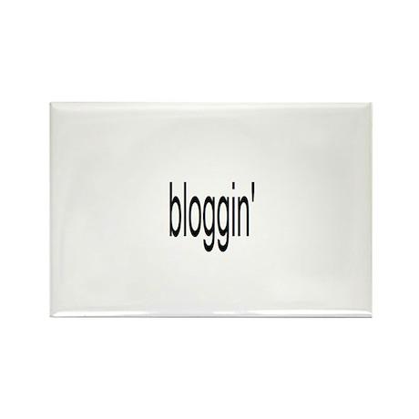 bloggin' Rectangle Magnet
