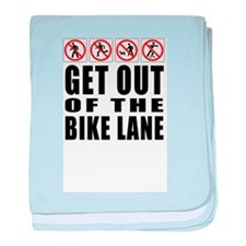 Get out of the bike lane baby blanket