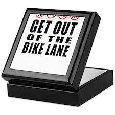 Get out of the bike lane Keepsake Box