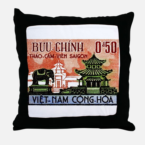 1964 Vietnam Saigon Zoo and Botanical Garden Throw