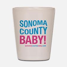 Sonoma County Baby Shot Glass