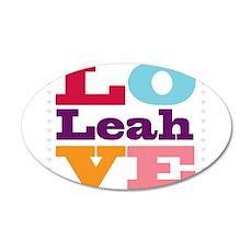 I Love Leah Wall Decal