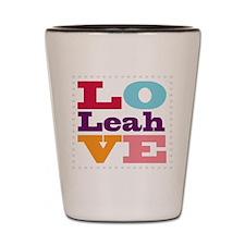 I Love Leah Shot Glass