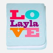 I Love Layla baby blanket