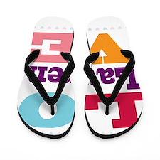 I Love Lauren Flip Flops