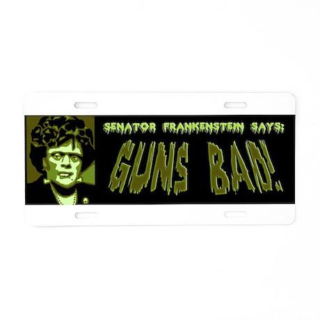 Senator Frankenstein Aluminum License Plate