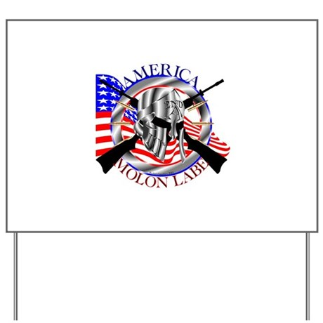Molon Labe America 2nd Amendment Yard Sign