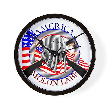 Molon Labe America 2nd Amendment Wall Clock