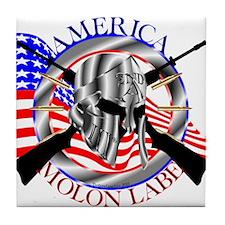 Molon Labe America 2nd Amendment Tile Coaster